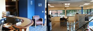 panoramic office photos of new addition to Carlisle and Finch headquarters