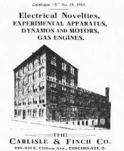Carlisle and Finch plant etching from 1911